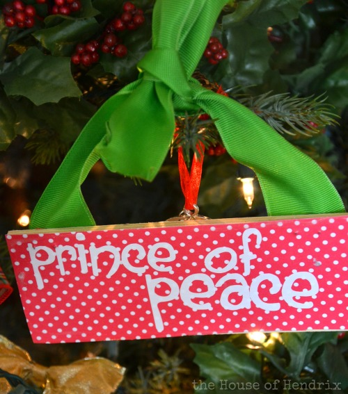 Prince of Peace - DIY Wood Christmas Ornaments