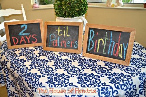 Birthday countdown build excitement