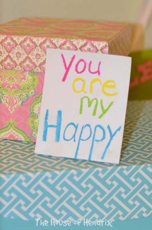 "Leave liitle love  notes around your child's room for them to discover. ""You are my Happy!"" the House of Hendrix"