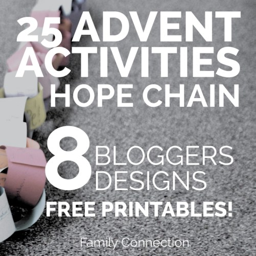 Add a little more meaning to the Christmas season. Print this adorable list of 25 Advent activities for your family. Comes with a tutorial on making a paper chain with them.