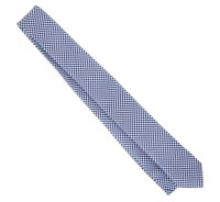 Narrow Tie with Blue and White Houndstooth Pattern - The ...