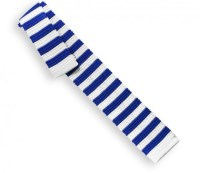 Blue and White Knit Tie - White Tie - Blue Tie - The House ...