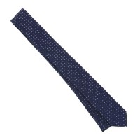 Navy Blue Tie with Blue Mini Dots - Blue Tie - The House ...