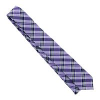 Violet tie with plaid pattern The Nines - Men's tie