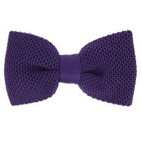 Violet Knitted Silk Bow Tie - Monza - The House of Ties