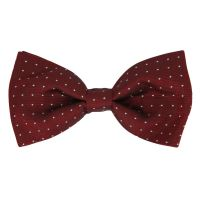Burgundy Bow Tie with White Polka Dots - The House of Ties