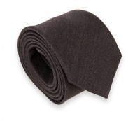 Dark brown Wool and Silk Ties - Wool and silk Ties - The ...
