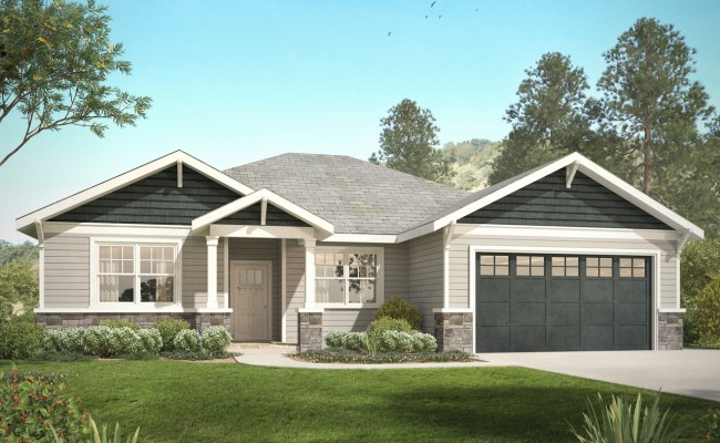 3 Bedroom Craftsman Style Ranch House Plan