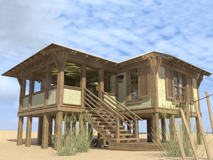 The House Plan Shop Blog » 5 Thoughtful Waterfront House Plans