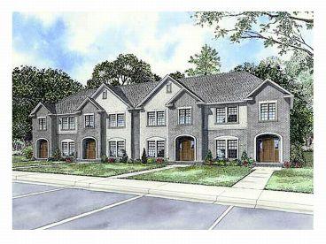 MultiFamily House Plans Triplexes  Townhouses  The House Plan Shop