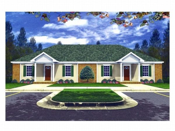 duplex home plans -story multi-family