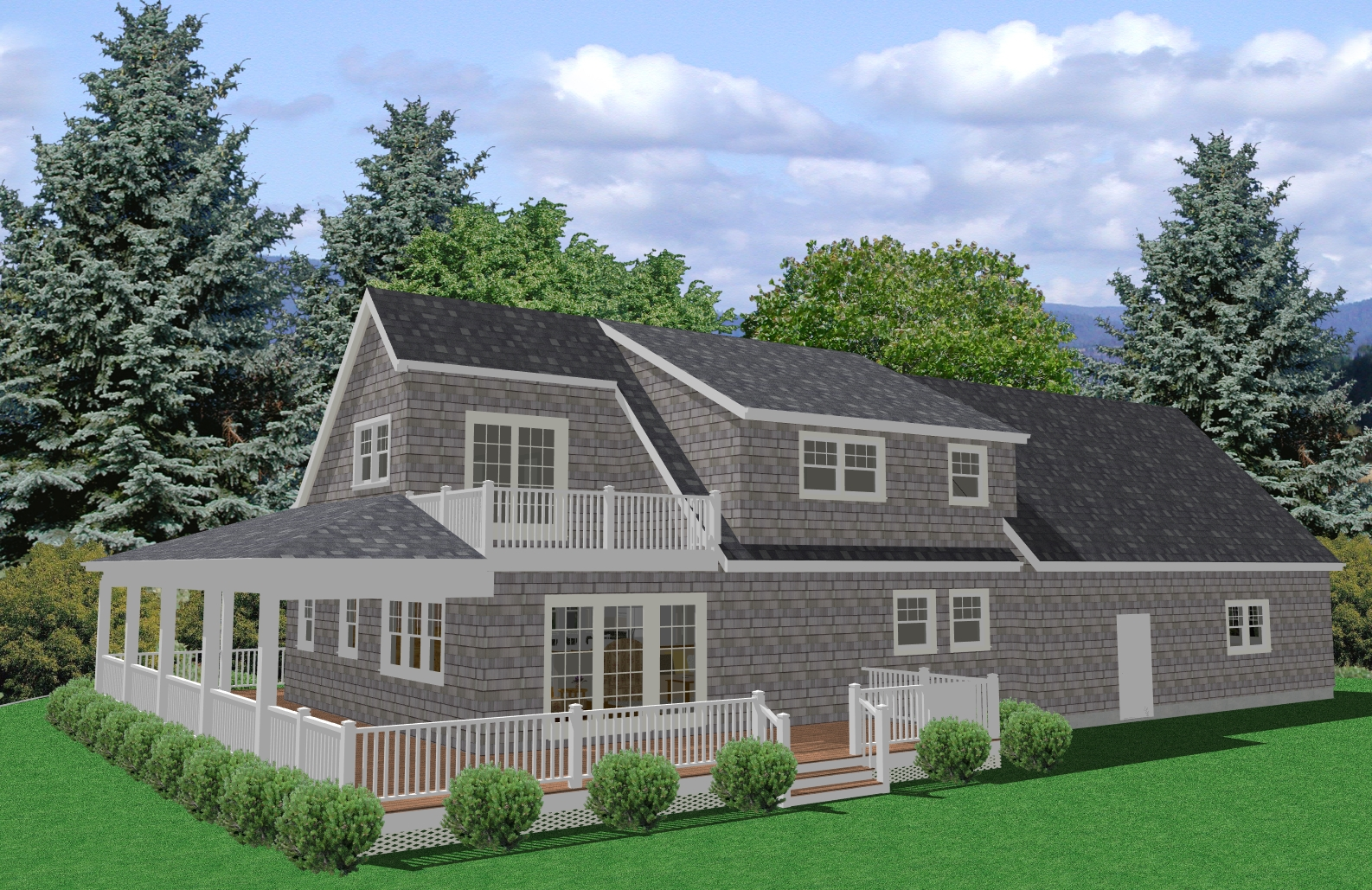 Cape Cod House Plan, 3 Bedroom house plan, Traditional