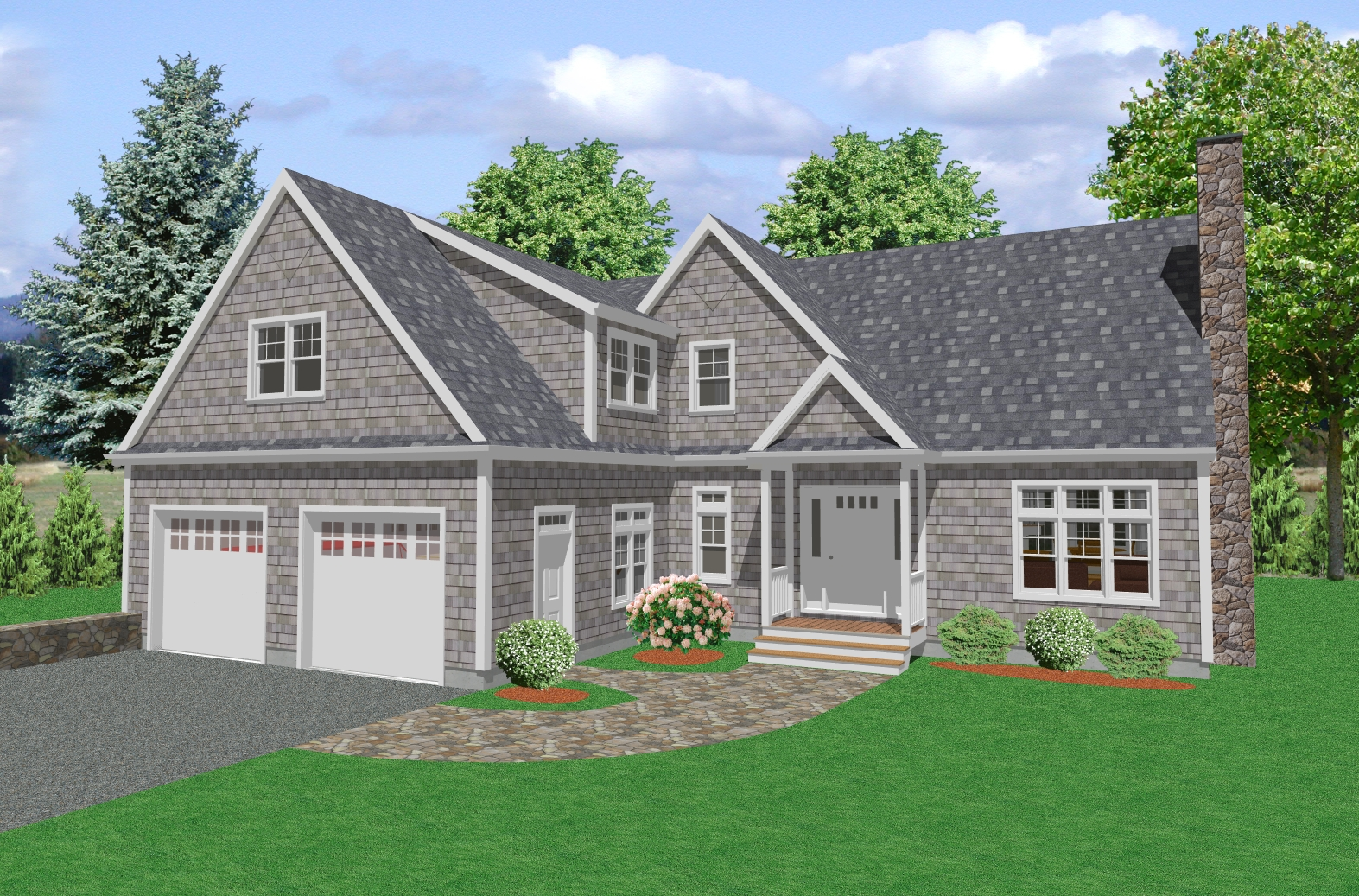 Country House Plan, Two Story Traditional Country House