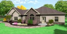 Traditional Ranch House Plan D65-2116 Site