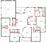 Traditional Ranch House Plan, Single Level One Story Ranch ...