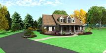 Cape Cod Home Style House Plans