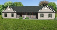 Great Room Ranch House Plan, Ranch HousePlan with ...