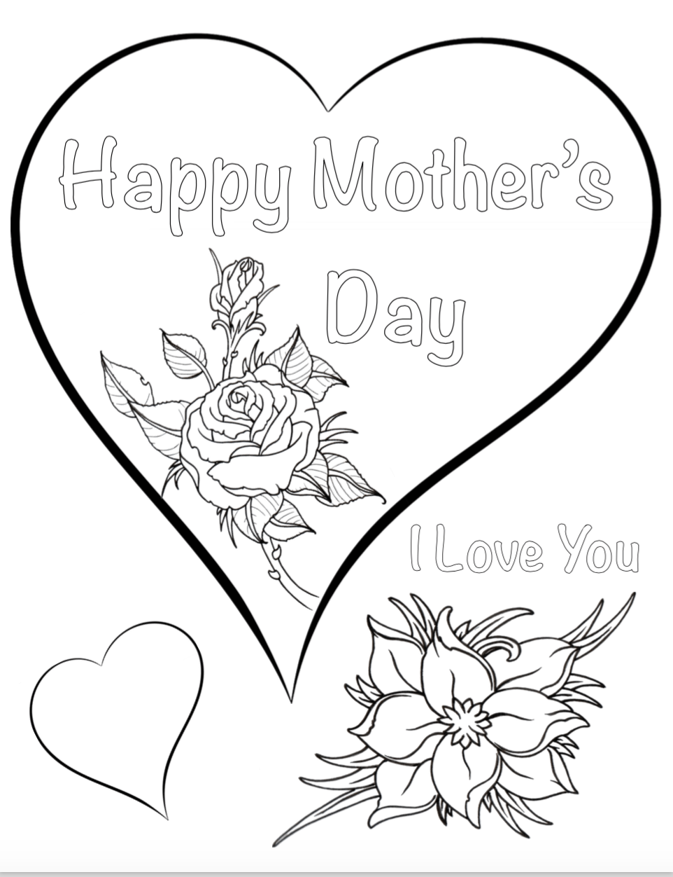Free Printable Mother's Day Coloring Pages: 4 different
