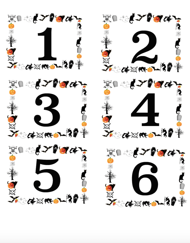 Free Printable Halloween Labels: Blank & Pre-Numbered
