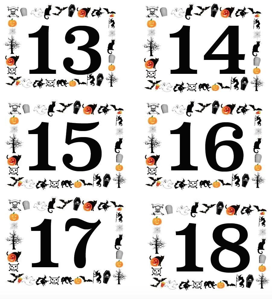 Free Printable Halloween Numbered Labels (plus Blanks!)