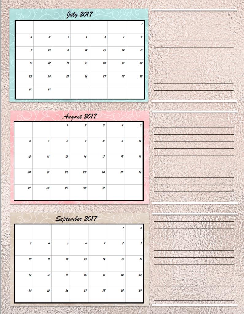Image Result For Free Printable Planner Calendar