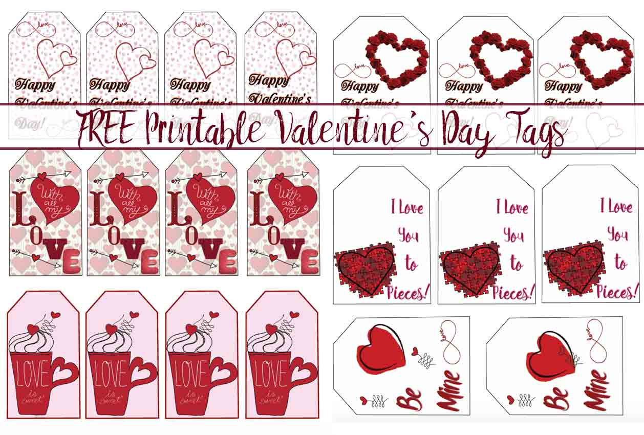 Free Printable Valentine S Day T Tags Multiple Designs