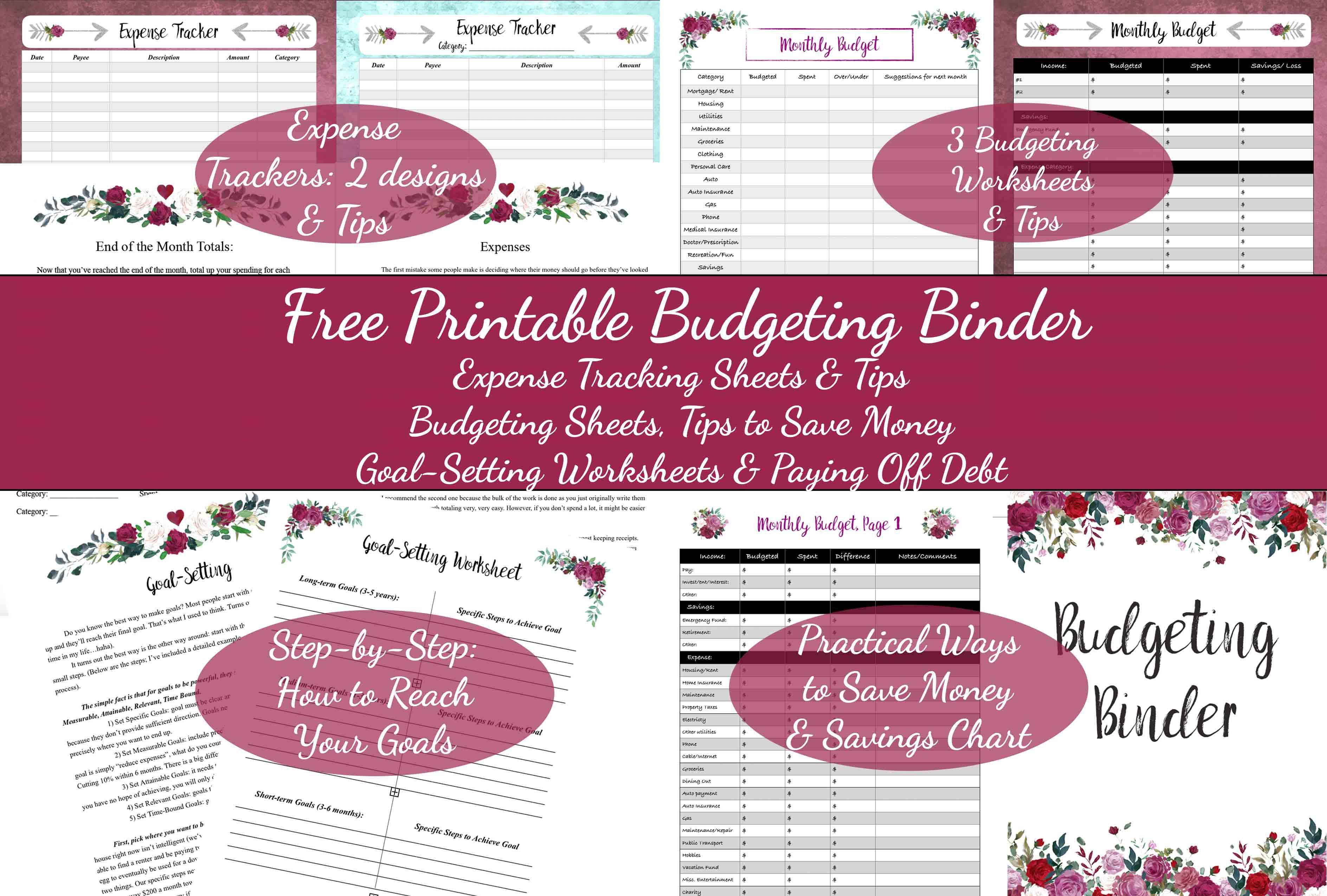 Free Printable Budgeting Binder 15 Pages