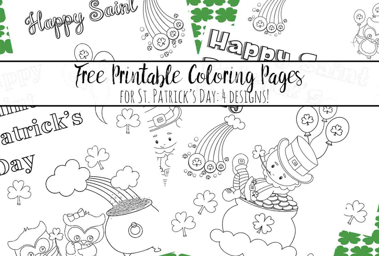 Free Printable St Patrick S Day Coloring Pages 4 Designs