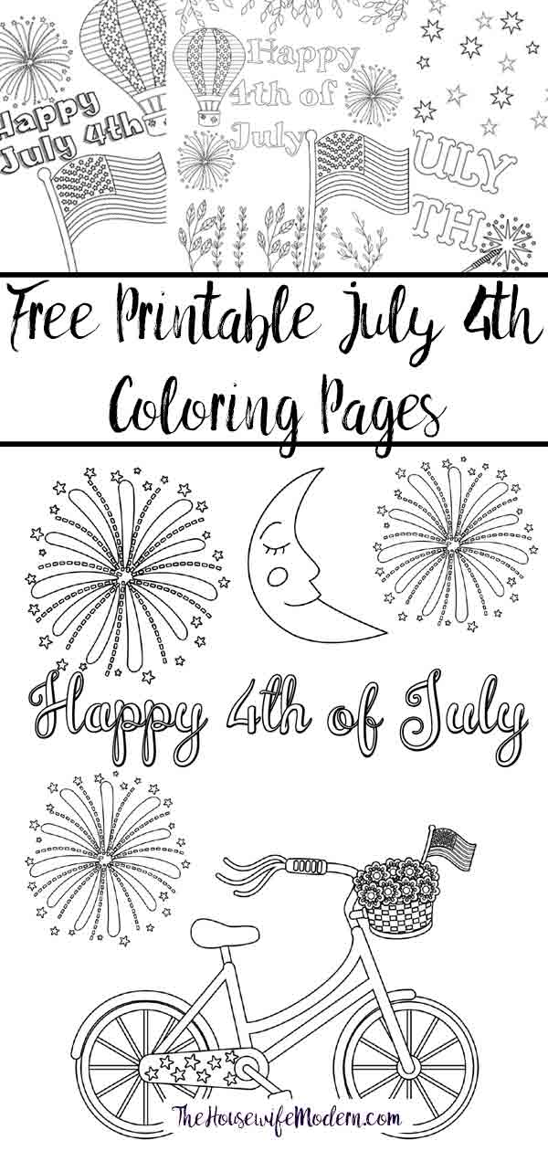 Free Printable Fourth of July Coloring Pages: 4 Designs