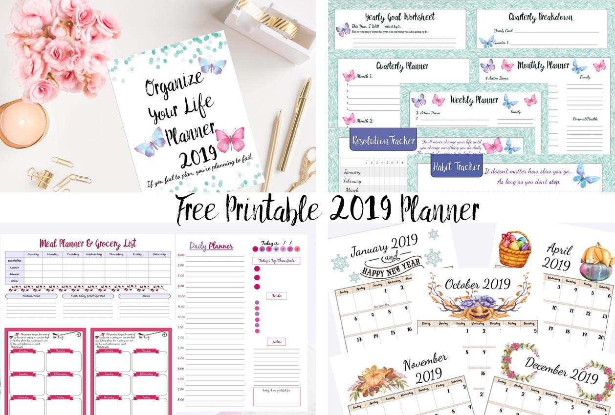 Free Printable Planner Goals Planner Calendars Amp More