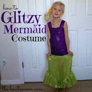 glitzy mermaid costume (part 2) and a peek at my craft room