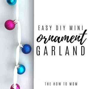 Easy Mini-Ornament Garland