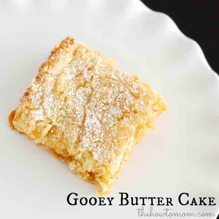 Gooey Butter Cake Recipe - A St Louis Classic Dessert