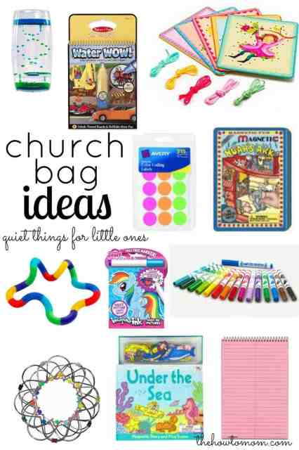 Church Bag Ideas - quiet things for little ones