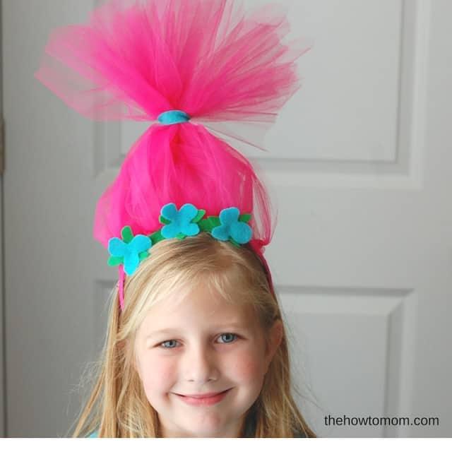 DIY Poppy Headband - Inspired by the Trolls movie