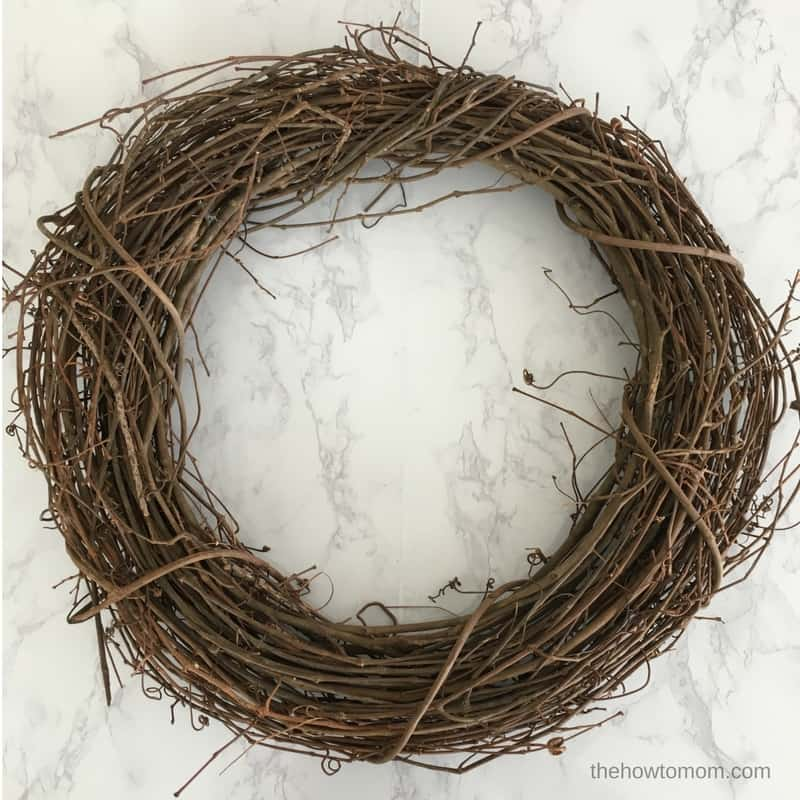 How to Make a Wreath - grapevine wreath form