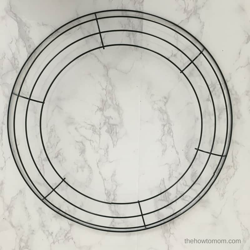 How to Make a Wreath - wire wreath form
