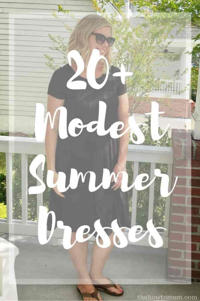 20+ Modest Summer Dresses - a roundup of stylish and easy knee-legth dresses with sleeves