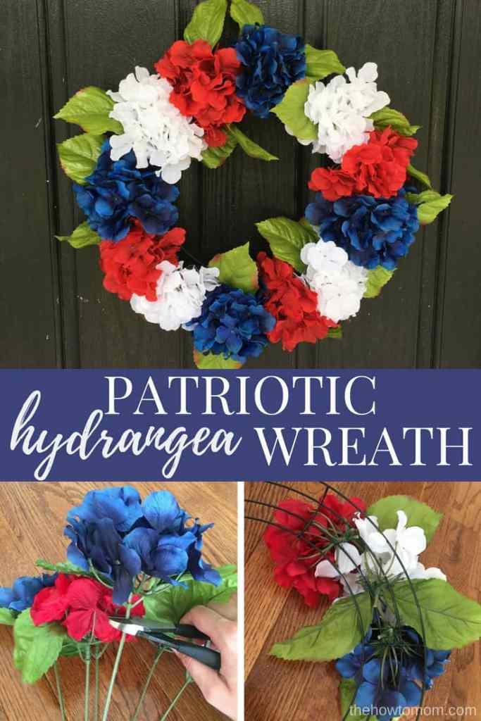 How to make a Patriotic Hydrangea Wreath - Easy 4th of July DIY