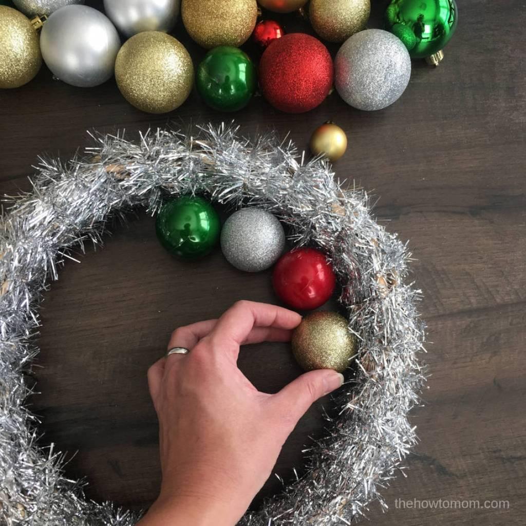 Easy Ornament Wreath DIY