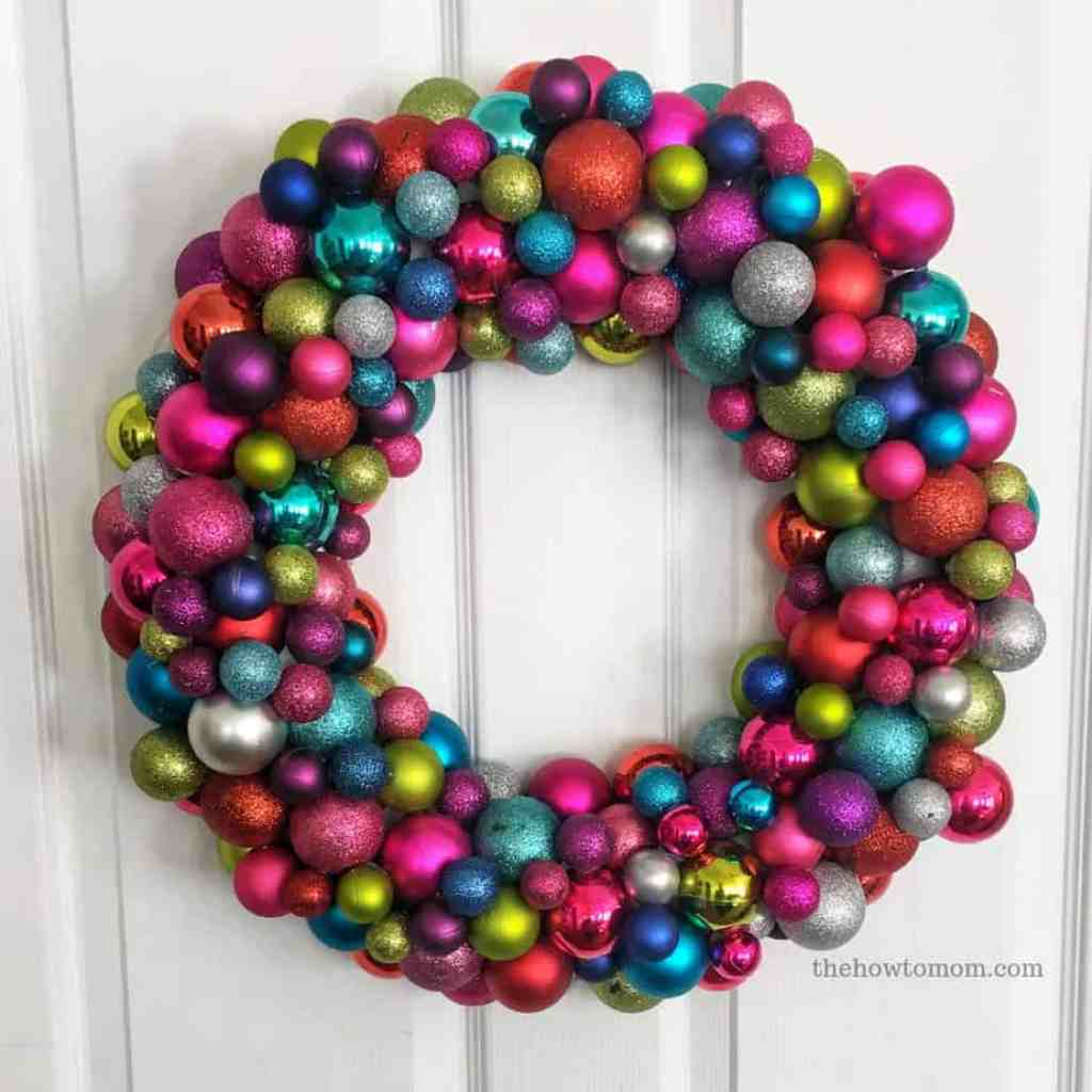 How To Make An Ornament Wreath The How To Mom