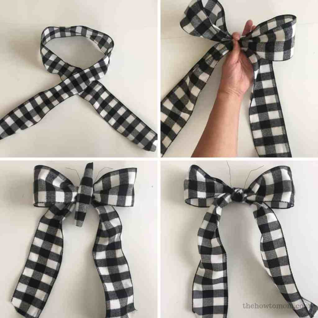 How to make an easy bow for a wreath