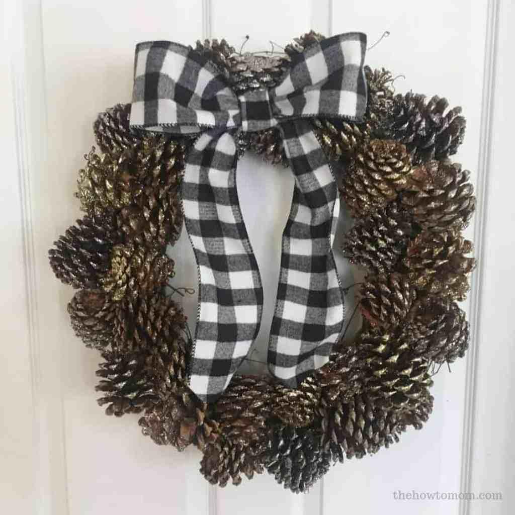 Pinecone Wreath Easy DIY