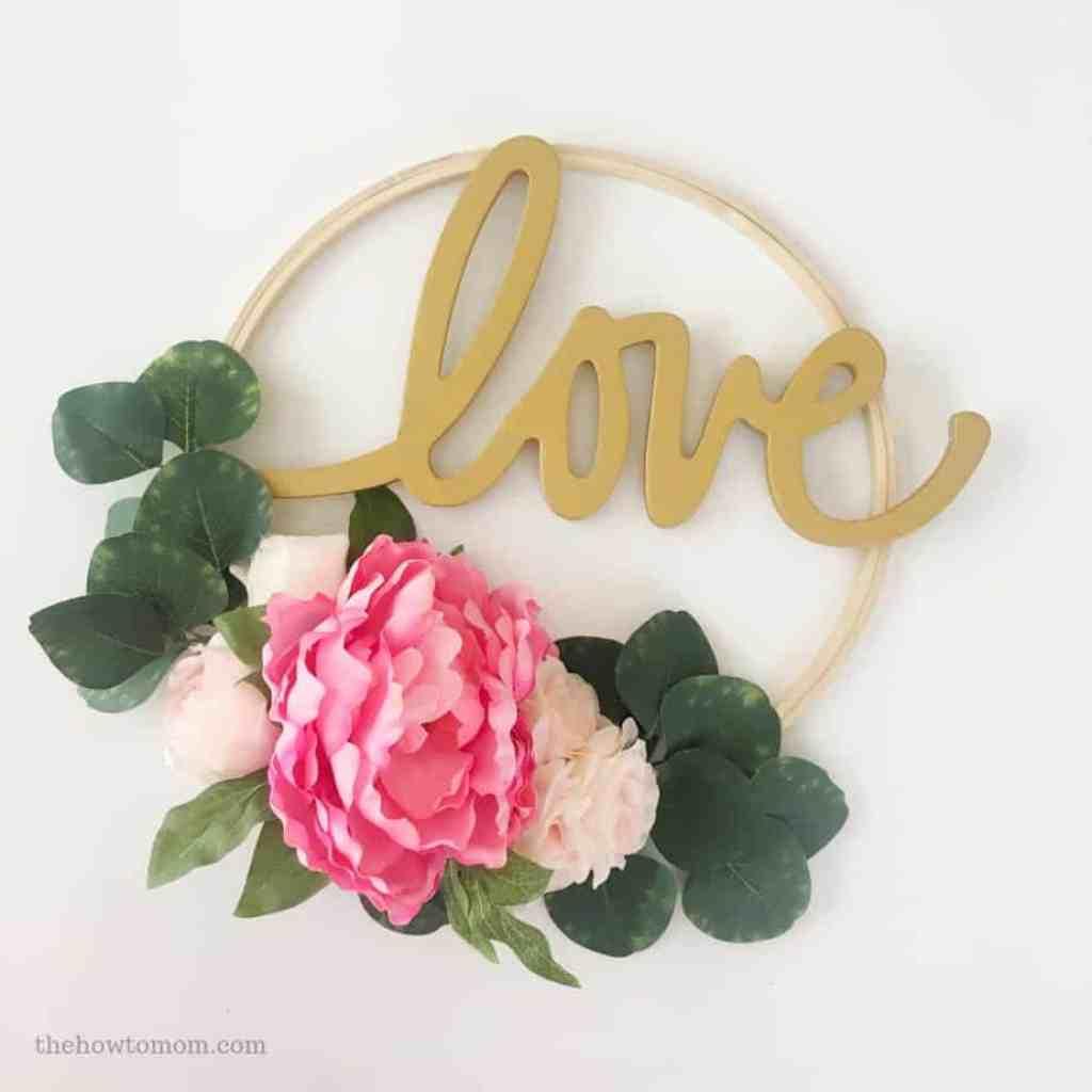 Love Hoop Wreath DIY