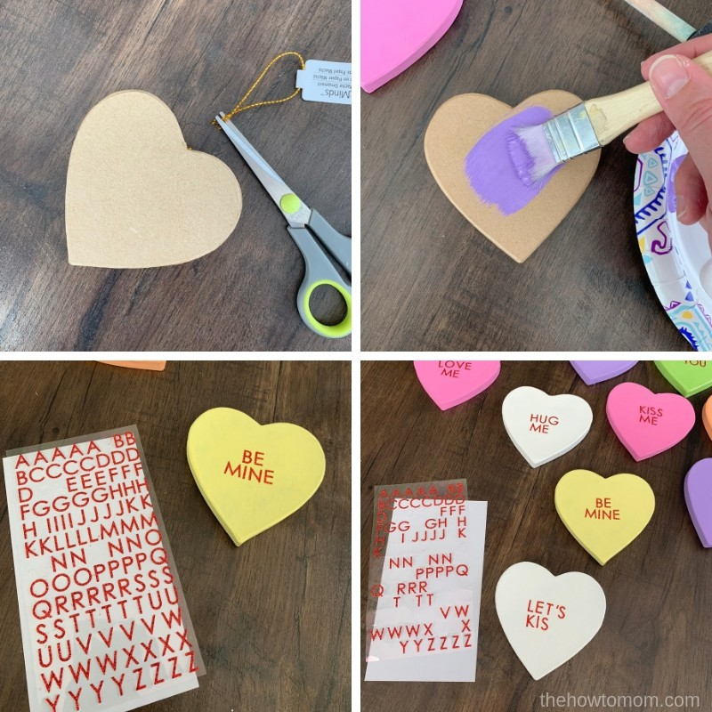 How to Make a Conversation Heart Wreath