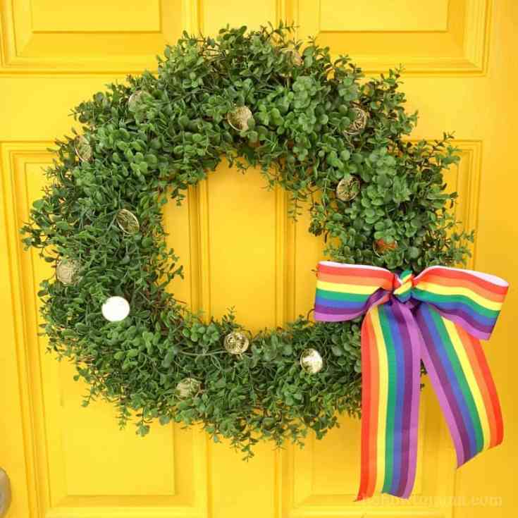Easy St Patricks Day Wreath