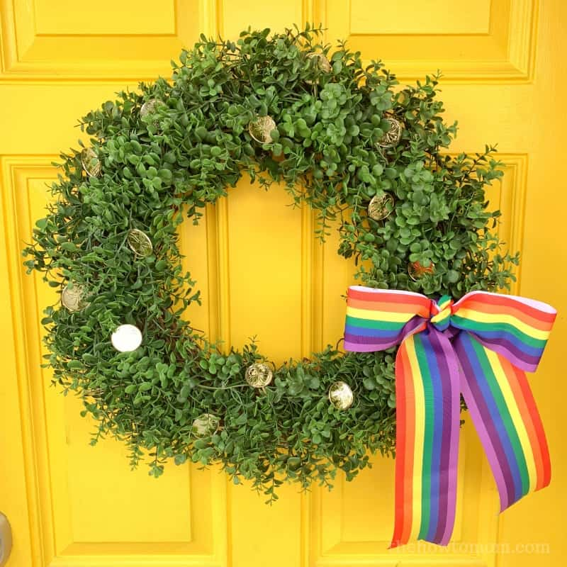 St Patricks Day Wreath Idea