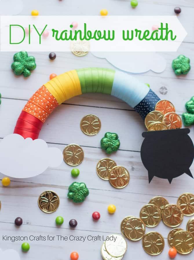 Quick and Easy Rainbow Wreath