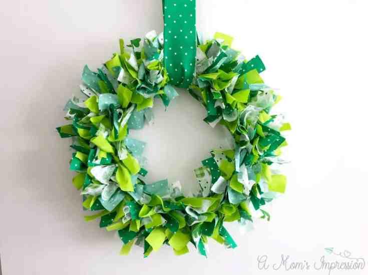 Cute Green Rag Wreath