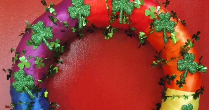 Rainbow and Shamrocks Wreath